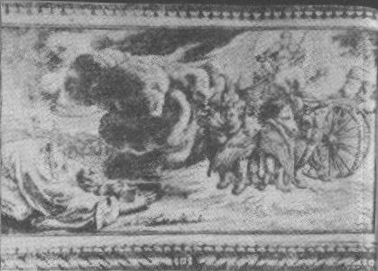 Figure 3. Blumrich's example of the traditional version of Ezekiel's vision